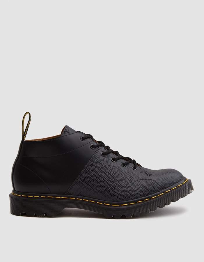 Dr. Martens EG Church Monkey Boot in Black Pebble Leather