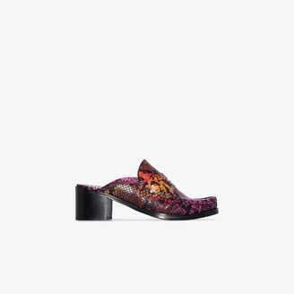 Sophia Webster X Patrick Cox multicoloured Iconic 60 snake effect leather mules