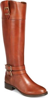 INC International Concepts Inc Frankii Riding Leather Boots, Women Shoes