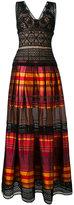 Alberta Ferretti striped maxi dress - women - Silk/Cotton/Polyamide/Acetate - 42