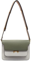 Marni Green and Grey Mini Trunk Bag