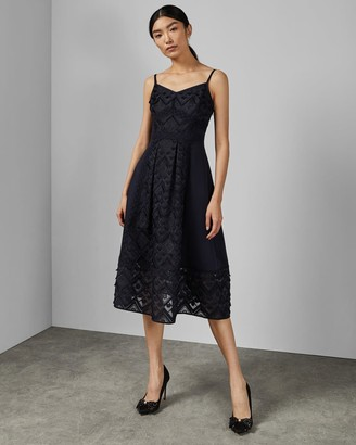 Ted Baker Mixed Geo Lace Midi Dress