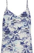 L'Agence Printed Silk-Crepe De Chine Camisole