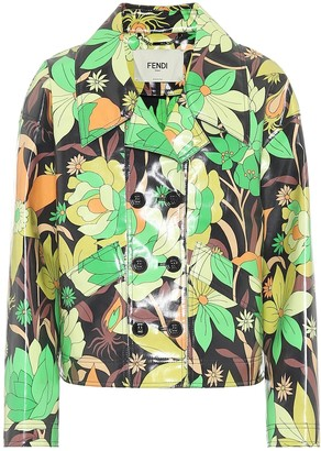 Fendi Floral coated-cotton jacket