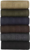Johnston & Murphy Pima Cotton Ribbed Slack-Length Socks