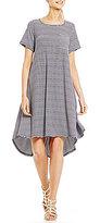 Gibson & Latimer Striped Hi-Lo Pocket Tee Dress