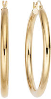 FINE JEWELRY Gold Opulence 14K Yellow Gold Diamond-Accent Polished Hoop Earrings