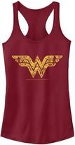 Licensed Character Juniors' DC Comics Wonder Woman Filled Logo Tank Top