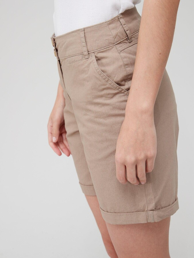 Thumbnail for your product : Very Longer Length Poplin Shorts - Stone