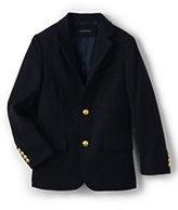 Lands' End Little Boys Wool Blazer-Classic Navy Hopsack