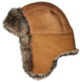 UGG Leather Trapper Cap with Shearling Lining