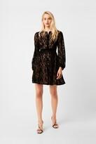 French Connection Brielle Velvet Lace Mix Dress