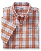 L.L. Bean Men's Wrinkle-Free Acadia Sport Shirt, Slightly Fitted Short-Sleeve Plaid