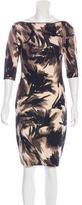 Blumarine Three-Quarter Sleeve Midi Dress
