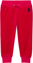 Juicy Couture Red Velour Glitter Track Pants