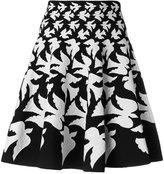 Alexander McQueen flared dove skirt - women - Polyamide/Polyester/Spandex/Elastane/Viscose - XS