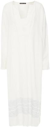 James Perse Striped Linen Midi Dress