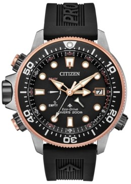 Citizen Eco-Drive Men's Promaster Aqualand Black Polyurethane Strap Watch 46mm - A 30th Anniversary Limited Edition