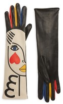 Agnelle Women's Double Moi Lambskin Leather Gloves