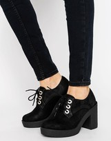 Blink Lace Up Chunky Heel Shoe