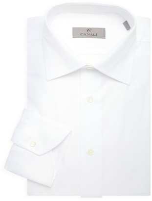 Canali Solid Dress Shirt