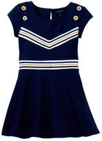 Tommy Hilfiger Rib V-Front Dress (Little Girls)