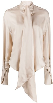 Petar Petrov Connor detachable scarf blouse