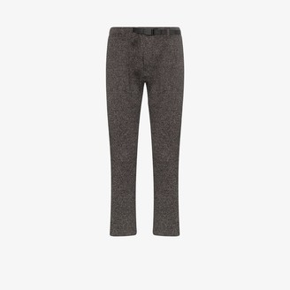 Gramicci Grey Narrow Rib Fleece Sweatpants