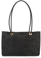 Kenzo logo embossed tote - women - Polyester/Spandex/Elastane/Rayon - One Size