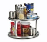 Lazy Susan Endurance STAINLESS steel 2 tier TURNTABLE Kitchen