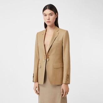 Burberry Link Detail Wool Cashmere Blazer