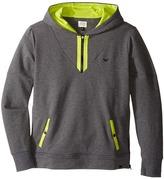 Armani Junior Hoodie with Lime Detail Boy's Sweatshirt