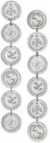 Gucci Women's Rhodium Plated Sterling Silver Coin Pendant Drop Earrings YBD43348700100U