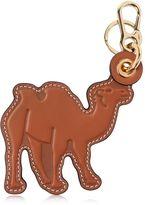 Loewe Camel Leather Charm Keychain