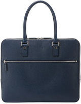 Salvatore Ferragamo Saffiano Zip-Around Satchel Bag, Blue