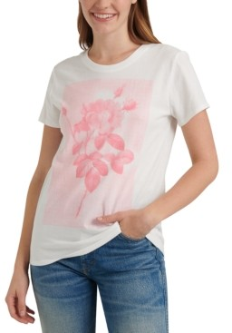 Lucky Brand Rose-Graphic Cotton T-Shirt
