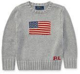 Ralph Lauren 2-7 Flag Cotton Crewneck Sweater