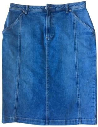 Ikks Blue Cotton Skirt for Women