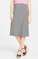 Petite Women's Caslon A-Line Knit Midi Skirt