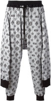 Kokon To Zai tied up monogram joggers - men - Cotton - S