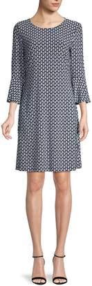 Tommy Hilfiger Paisley-Print Flared-Sleeve Dress