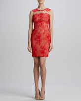 Notte by Marchesa Sleeveless Lace Cocktail Dress