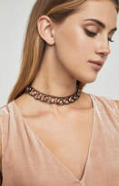 BCBGMAXAZRIA Double Chain Stone Necklace