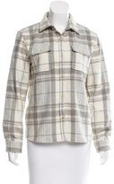 A.P.C. Wool Plaid Top
