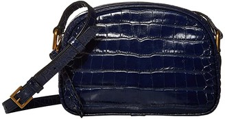 J.Crew Croc Camera Bag (Navy) Handbags