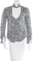 A.L.C. Silk Checkered Blouse