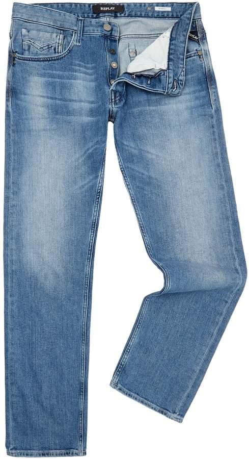 Replay Men's Newbill Comfort Fit Jeans