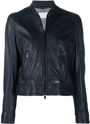 HUGO BOSS Lambskin Crop Jacket