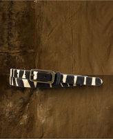 Denim & Supply Ralph Lauren Zebra-Print Haircalf Leather Belt