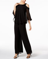Alex Evenings Sequined Blouse & Pants Set